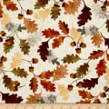 Leaf Into Autumn Falling Leaves Cream
