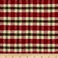 Primo Flannel Christmas Small Plaid Burgandy
