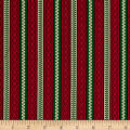 Cozies Flannel Christmas Stripe Red