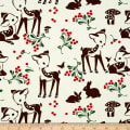 Michael Miller Holiday Fawn Memories Cream