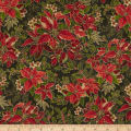 Yuletide Magic Large Poinsettia Green