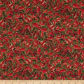 Yuletide Magic Packed Poinsettia Red Metallic