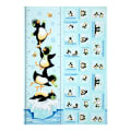 Susybee Gwyn the Penguin Gwyn Growth Chart 36 In. Panel Aqua