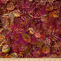 Island Batik Hollywood Hills Fern Mulberry/Gld/Grn
