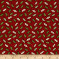 Christmas Wishes Holly Light Red