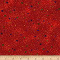 Kaufman Lumina Metallics Starry Blender Red