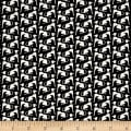 Telio Monaco Stretch ITY Knit Dog Print Black/Ecru