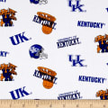 Collegiate Cotton Broadcloth University of Kentucky White All Over Print