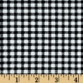 Telio Morocco Blues Stretch Poplin Gingham Print Black/White