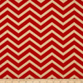 Michael Miller Holiday Glitz Sleek Chevron Cherry Metallic
