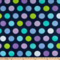 Polar Fleece Print Fun Dot Navy