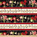 Christmas In Bloom Repeating Stripe Multi