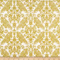 Riley Blake Gold Sparkle Medium Damask Gold Metallic