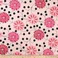 Ansley Home Decor Floral Pink/Red/Black