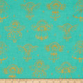 Cotton + Steel Garland Angels Metallic Aqua