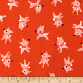 Cotton + Steel Garland Little Deer Red