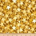 Holiday Accents Classics 2016 Starburst Gold Metallic