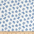 Storybook Flannel Leaping Frogs Blue