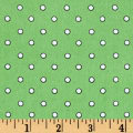 Zoo Mates Flannel Small Dot Green