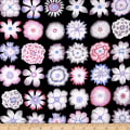 Kaffe Fassett Button Flowers Black