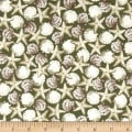 QT Fabrics Seaside Shells Green