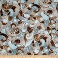 Contempo Twilight Bali Flowers Brown/Turquoise
