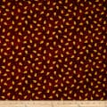 Folk Art Basics Pear Dot Dark Red