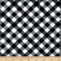 Kanvas Apple Blossom Festival Picnic Plaid Black