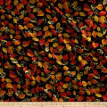 Kanvas Autumn Splendor Metallic Fall Foliage Black/Multi