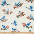 Bluebird Gathering Cutable Bluebirds Cream