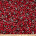Warm Wishes Metallic Poinsettia Leaves Red/Silver