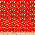 Riley Blake Dutch Treat Stripe Red