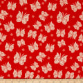 Riley Blake Acorn Valley Flannel Flutter Red