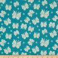 Riley Blake Acorn Valley Flannel Flutter Teal