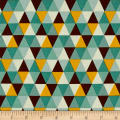 Riley Blake Giraffe Crossing 2 Diamond Teal