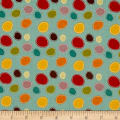 Riley Blake Giraffe Crossing 2 Dots Teal