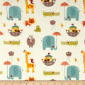 Riley Blake Giraffe Crossing 2 Flannel Main Cream