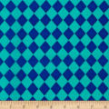 Crepe De Chine Harlequin Royal/Aqua