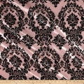 Flocked Damask Taffetta Pink/Black