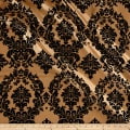 Flocked Damask Taffetta Gold/Black
