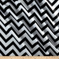 Mi Amor Duchess Satin Chevron Medium Black/White