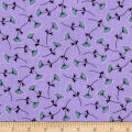 Make A Wish Mimosa Double Gauze Dark Lilac