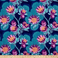 Joel Dewberry Cali Mod Home Decor Sateen Twill Protea Midnight