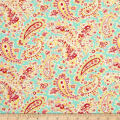 Verna Mosquera Sugar Bloom Pretty Paisley Aqua