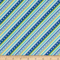 Kimberbell Little One Flannel Too! Diagonal Stripe Blue