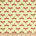 QT Fabrics It's a Pond Party Dragon Flies Red