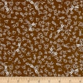 QT Fabrics It's a Pond Party Dragon Flies & Bug Brown