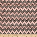 QT Fabrics Tidings Of Great Joy Block Chevron Pink