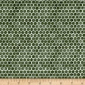 QT Fabrics Tidings Of Great Joy Honeycomb Dark Green