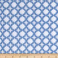 Kaufman Little Prints Double Gauze Trellis Blue